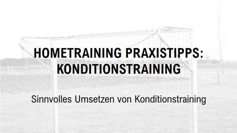 Hometraining – Praxistipps: Konditionstraining