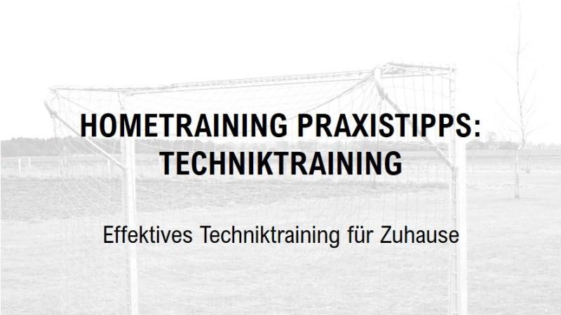 Hometraining Praxistipps: Techniktraining