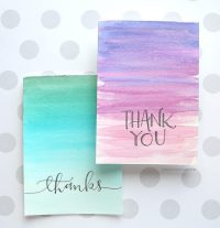 Easy DIY Thank You Cards (Ombr Watercolor ...