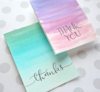 Easy DIY Thank You Cards (Ombr Watercolor