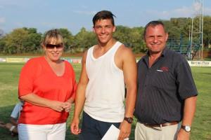 Brendon Vermaak is as die beste senior seuns veld atleet aangewys met sy gewigstoot item. Hy stoot 16.97m en verwerf 906 APA punte.