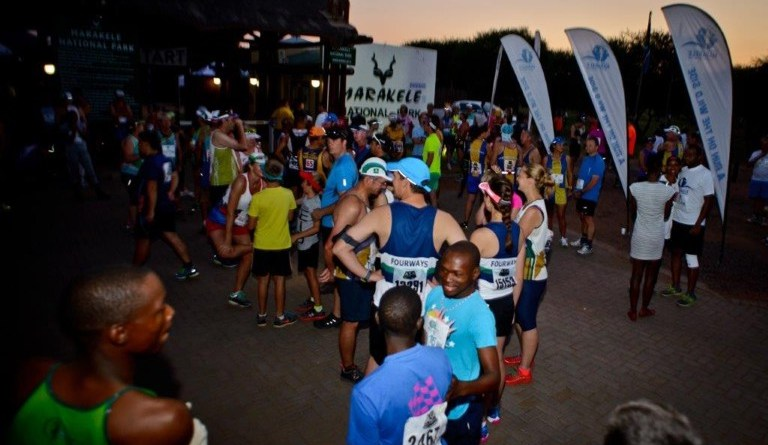 Marakele Feature multitude of runners waiting for the start of the 2015 marathon