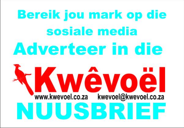 Adverteer in Kwevoel Nuusbrief