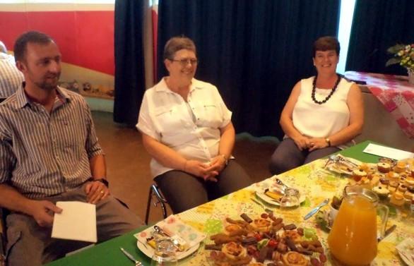 2 Oktober NG Foto 5 ds JZ de Jager, Ina Cloete, Theresa Pretorius