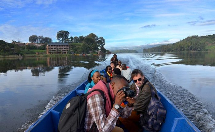 Boat ride on Lake Bunyonyi+Uganda+travel_with+Kwez+Outdoors