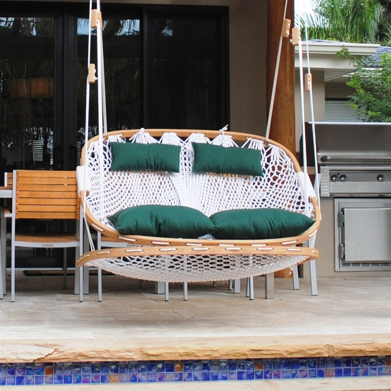 hanging chair double lane office outdoor swing with footrest larger photo