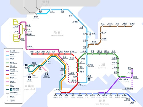 small resolution of map of the hong kong rail system or mtr