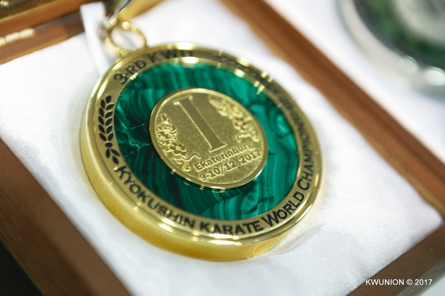 official medals 3rd KWU World Championship