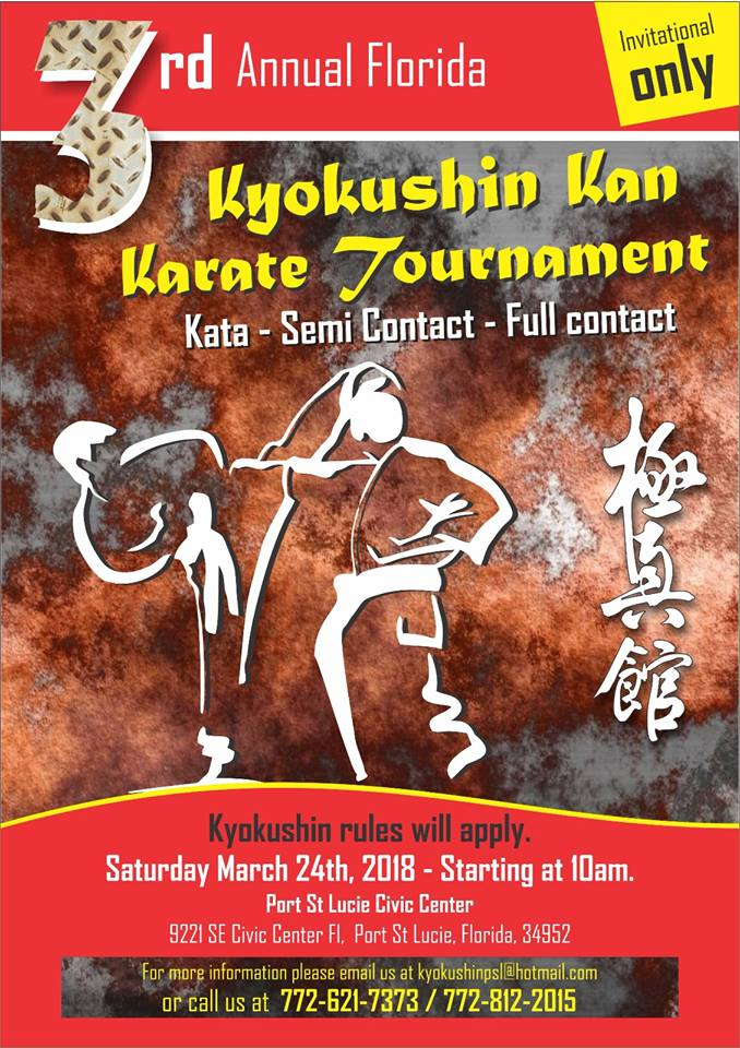3rd Annual Florida Kyokushin Kan Karate Tournament