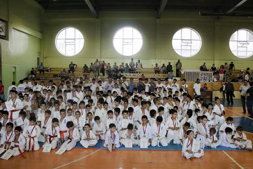 Tournament with 350 Armenian karatekas