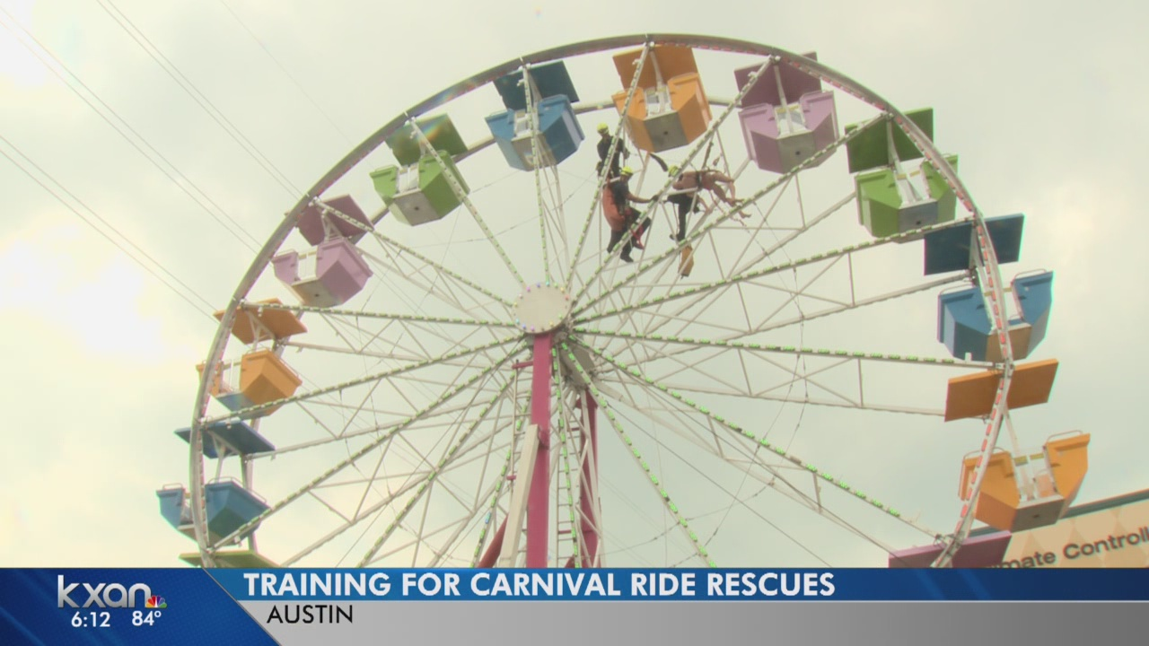 Austin firefighters practice carnival rescue