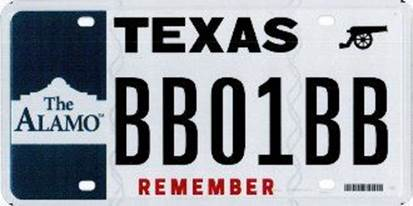 Alamo license plate_303536