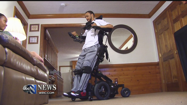 Crowdfunding helps paralyzed Chesterfield man get life-changing wheelchair_317776