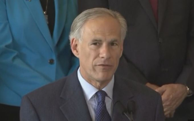 Gov. Greg Abbott at a afternoon press conference on the police shootings in Dallas on July 8, 2016_309811