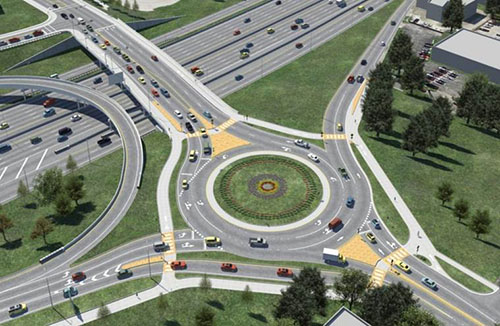 I-35 and 51st street roundabout_309101