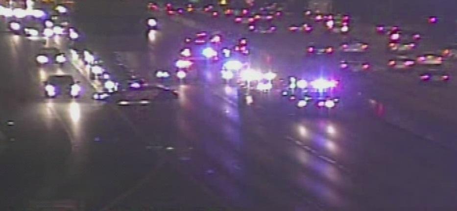 Rollover crash on I-35 and Howard Lane_360824