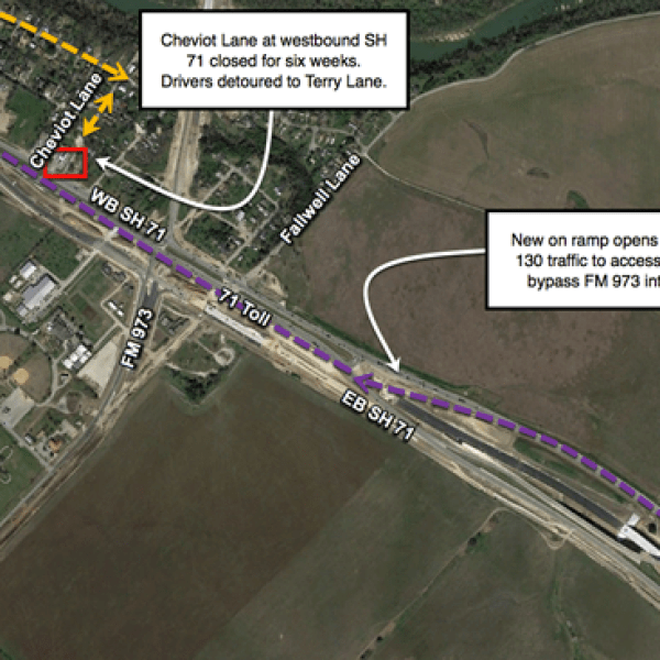 Ramp opening on Westbound SH 71_370698