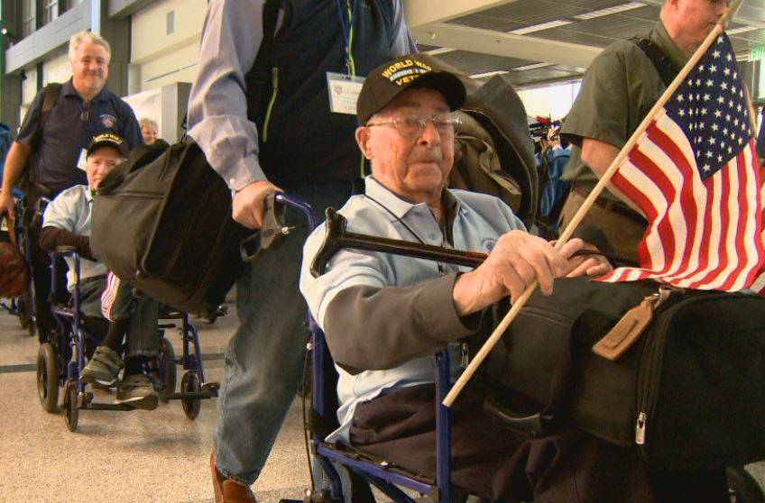 World War II veterans leave Austin airport en route to the 75th anniversary of Pearl Harbor in Washington, D.C._383790