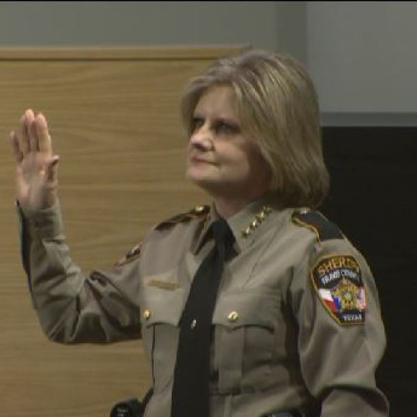 Sally Hernandez being sworn in as Travis County sheriff_395305