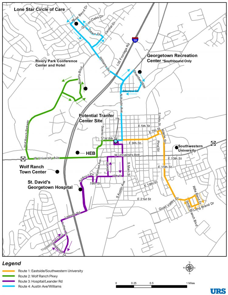 Georgetown proposed fixed-route map (City of Georgetown website)_439819
