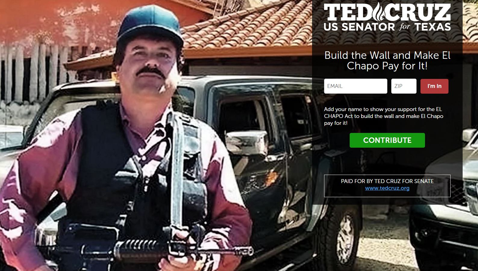 Ted Cruz wants El Chapo, other drug lords to pay for border wall