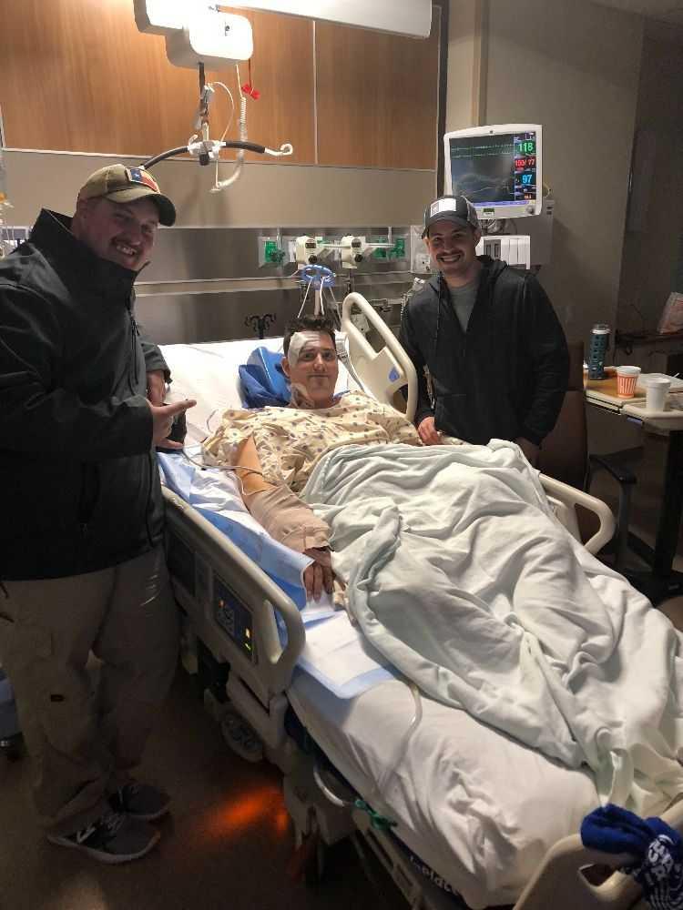 Caldwell County Sheriff's Deputy Jay Johnson in the hospital. (Caldwell County Sheriff's Office Photo)_636483