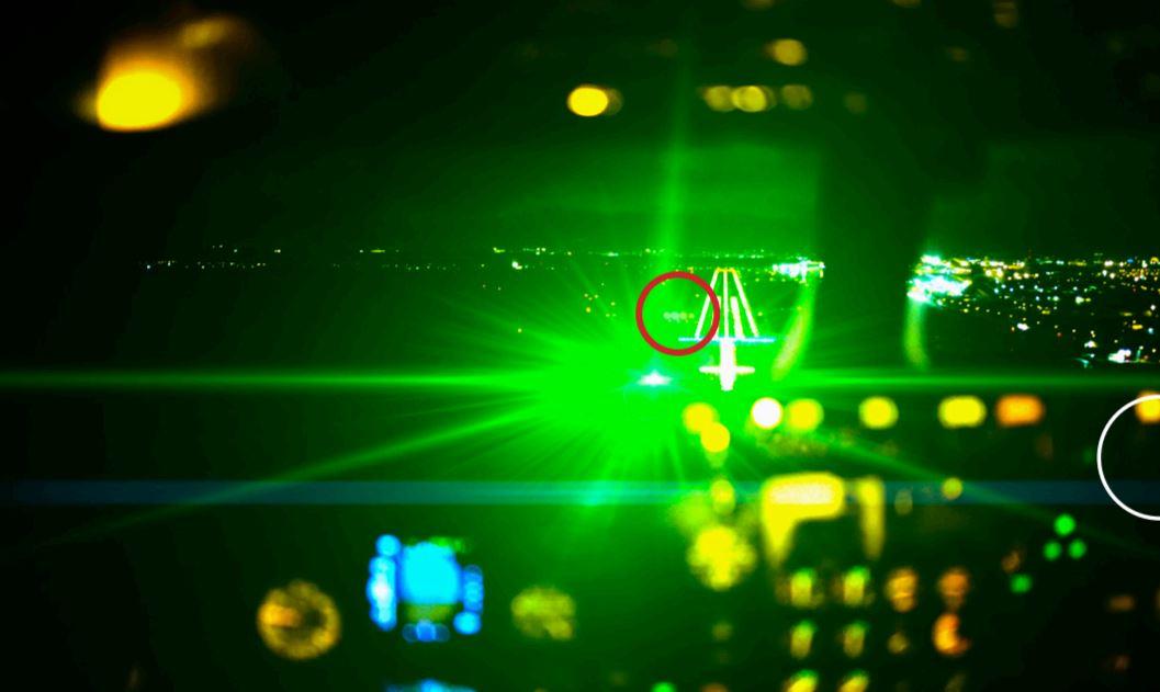 FILE Laser strike airplane cockpit