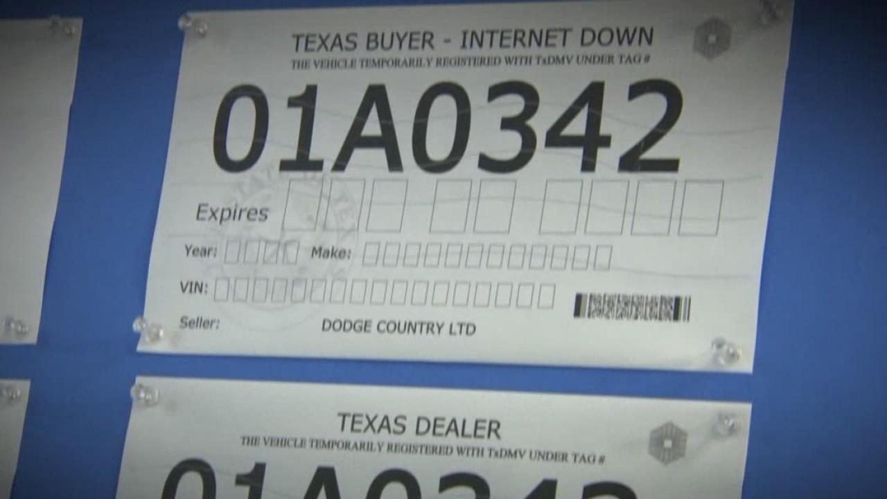Paper license plates