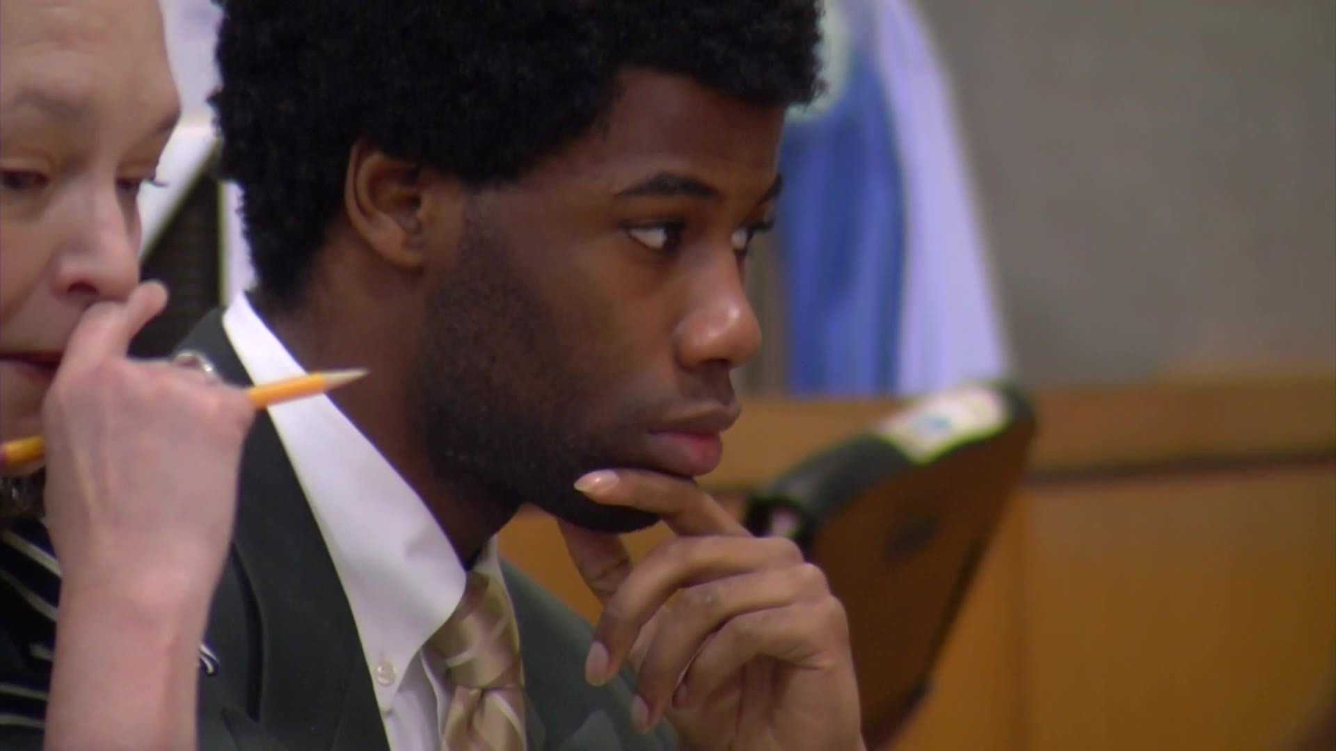 Meechaiel Criner in court on July 9, 2018