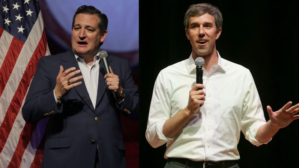 Ted Cruz, left, and Beto O'Rourke combined