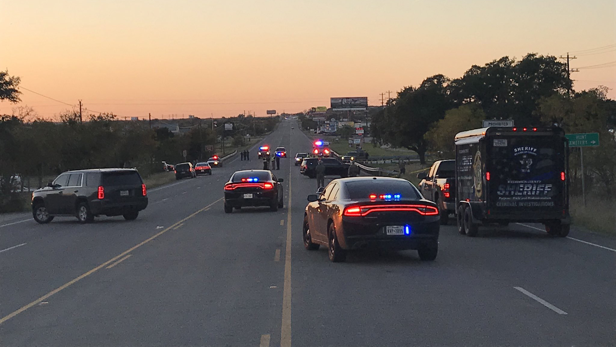 The scene of a rollover crash that killed on person on Oct. 30, 2018 at SH 29 and County Road 260