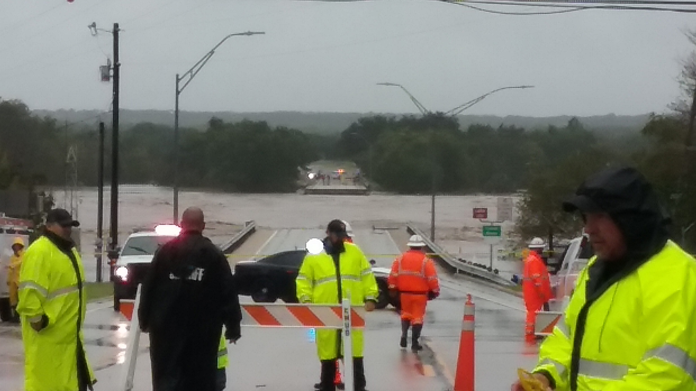 The washed out FM 2900 bridge in Kingsland on Oct. 16, 2018