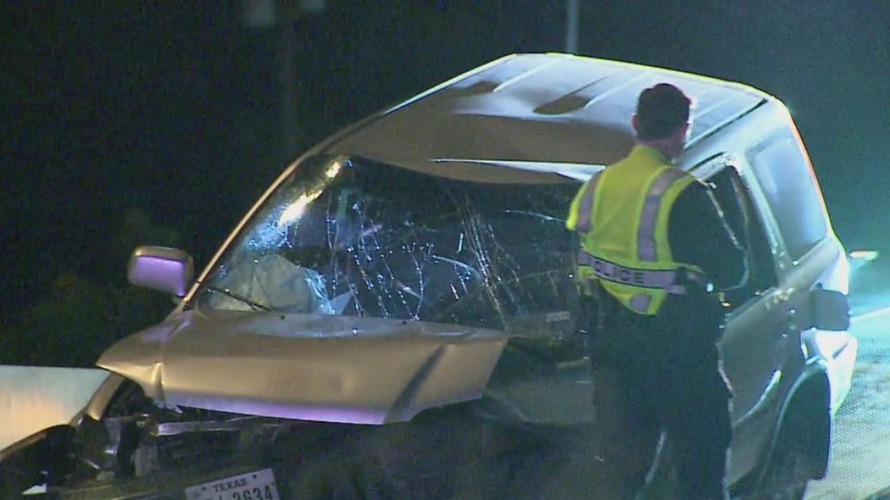 Multi-vehicle crash on I-35 sends two to the hospital