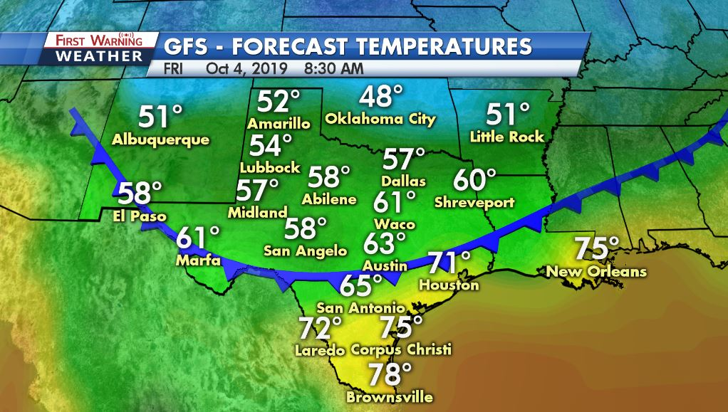 Eyes Set On Possible First Cold Front Of The Season Early October