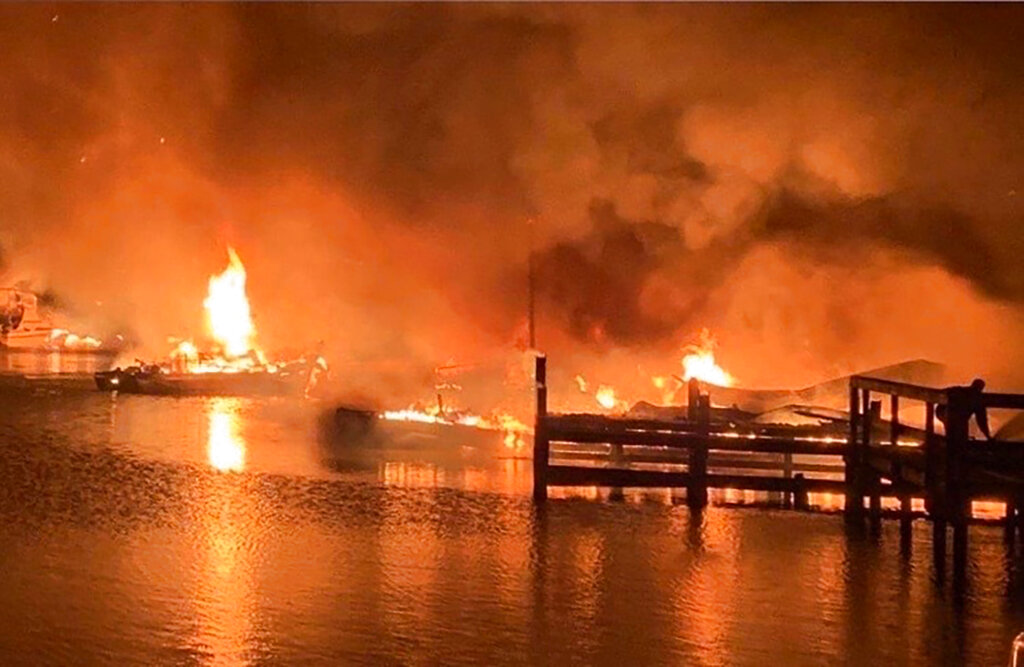 Alabama Boat Dock Fire