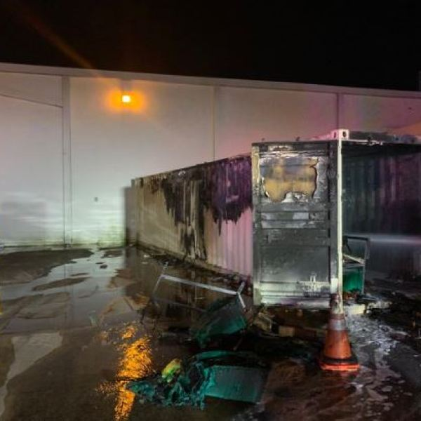 South Austin HEB trailer fire