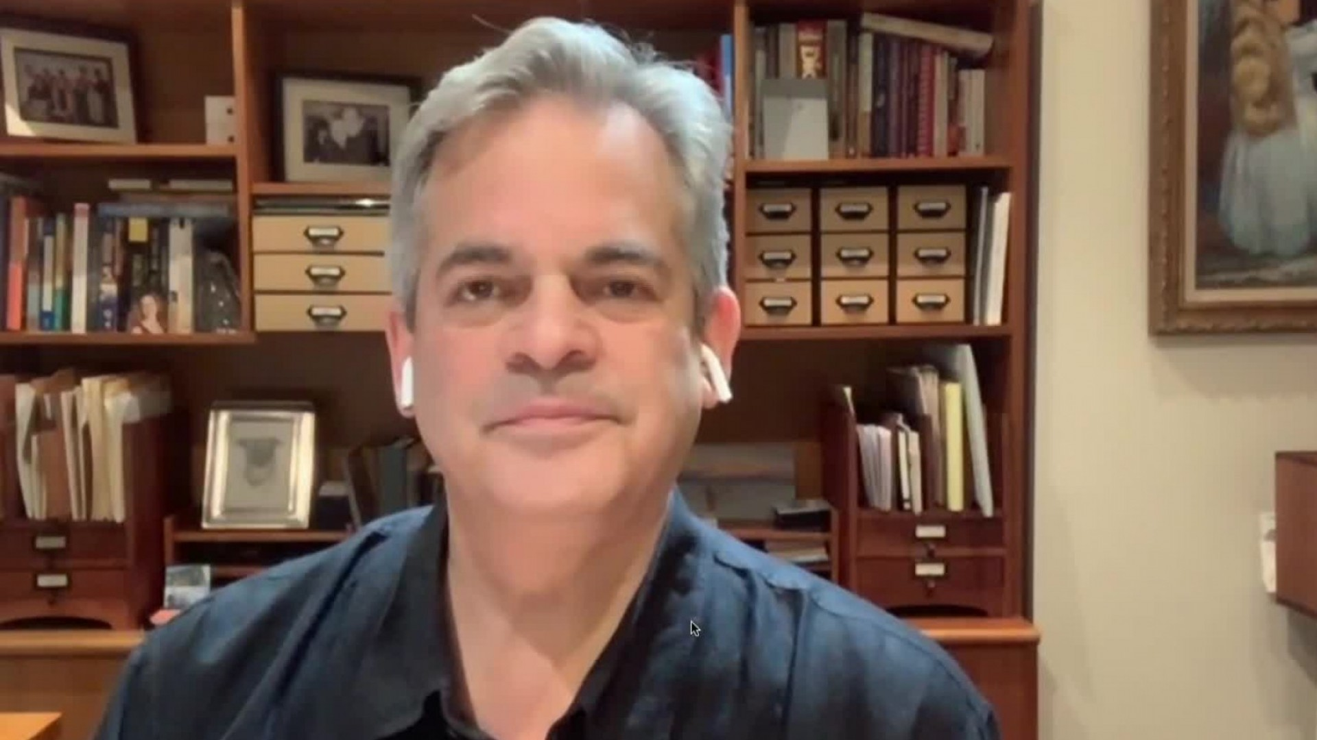 Mayor Steve Adler in a FaceTime interview April 6, 2020 (KXAN Photo)