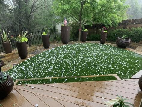 Hail in Cedar Park April 15, 2021 - Jennifer Creed