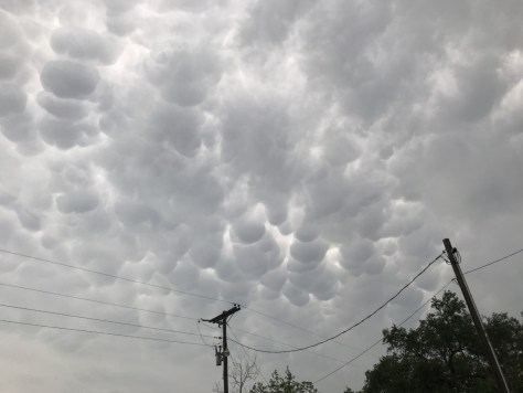 Mammatus clouds spotted over Fredericksburg April 28, 2021 (Courtesy George Weinreich)