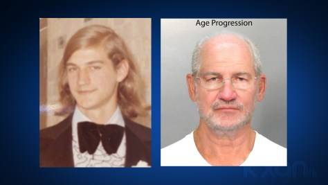 On the left is a photo of Brian Vargo in 1976. On the right is a photo of what Vargo could potentially look like today using age progression enhancements. (APD photo)