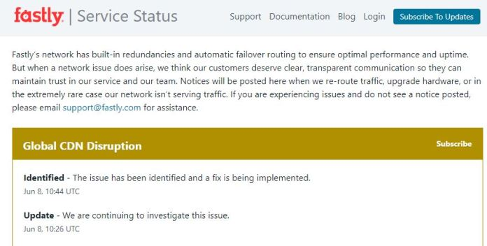 NYT, CNN sites go down Tuesday following Fastly outage