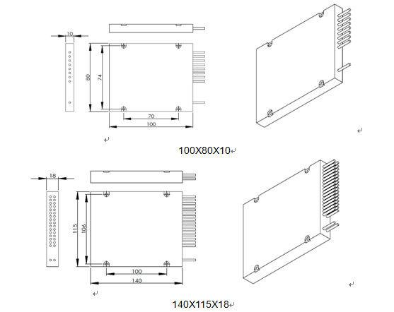 8CH 16CH 32CH CWDM DWDM Fiber Mux Demux Module Optic ABS