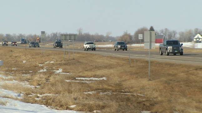 Speed Reduced From Ruthville To Minot Air Force Base