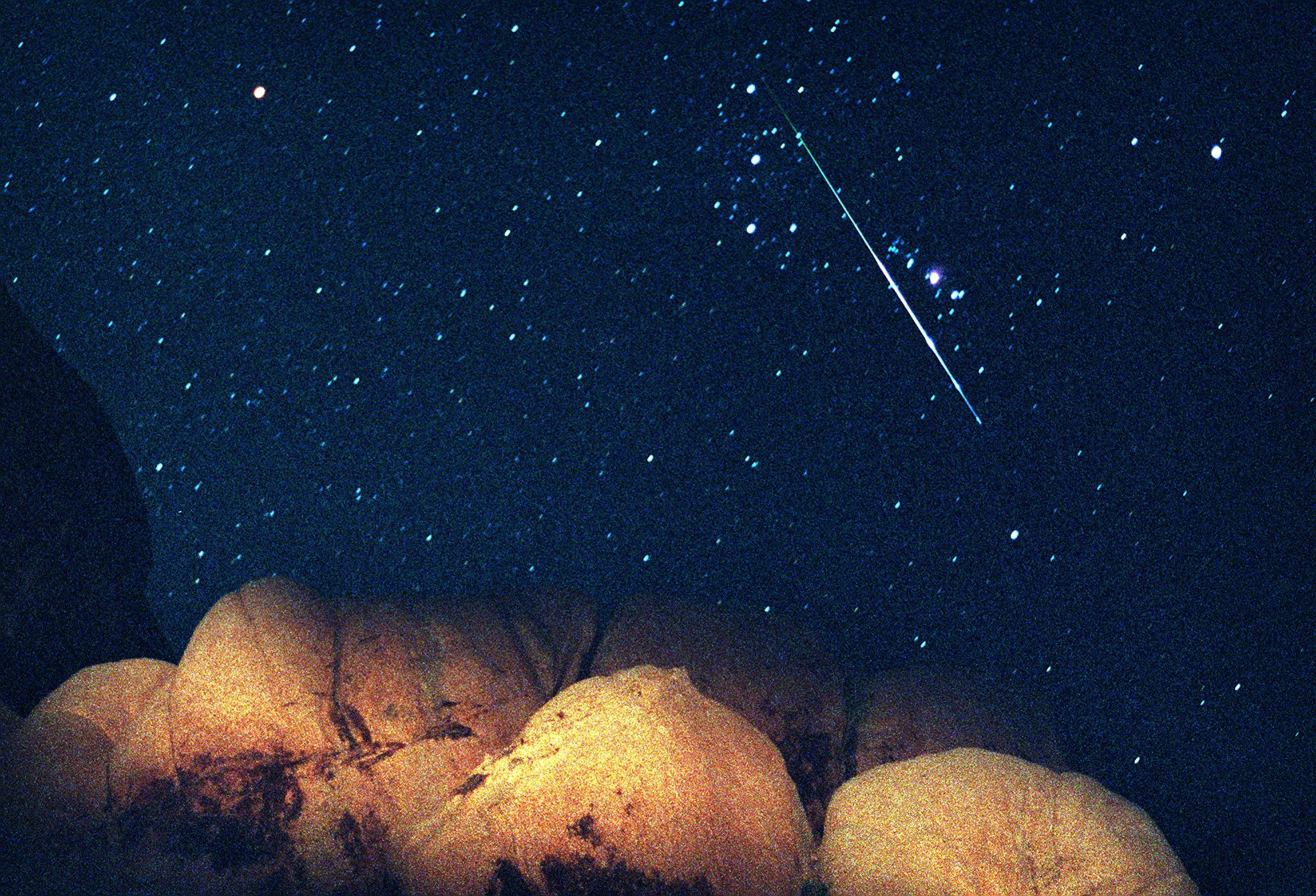 The meteors are coming tonight, but the bright moon will