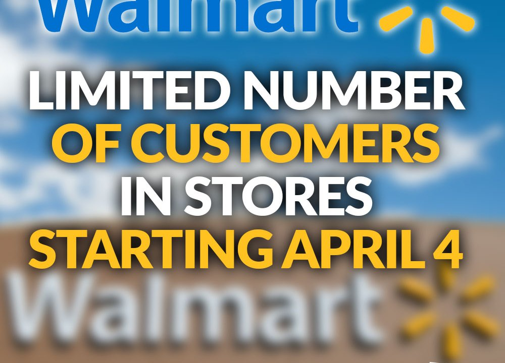 Walmart To Limit The Number Of Customers In Stores Due To