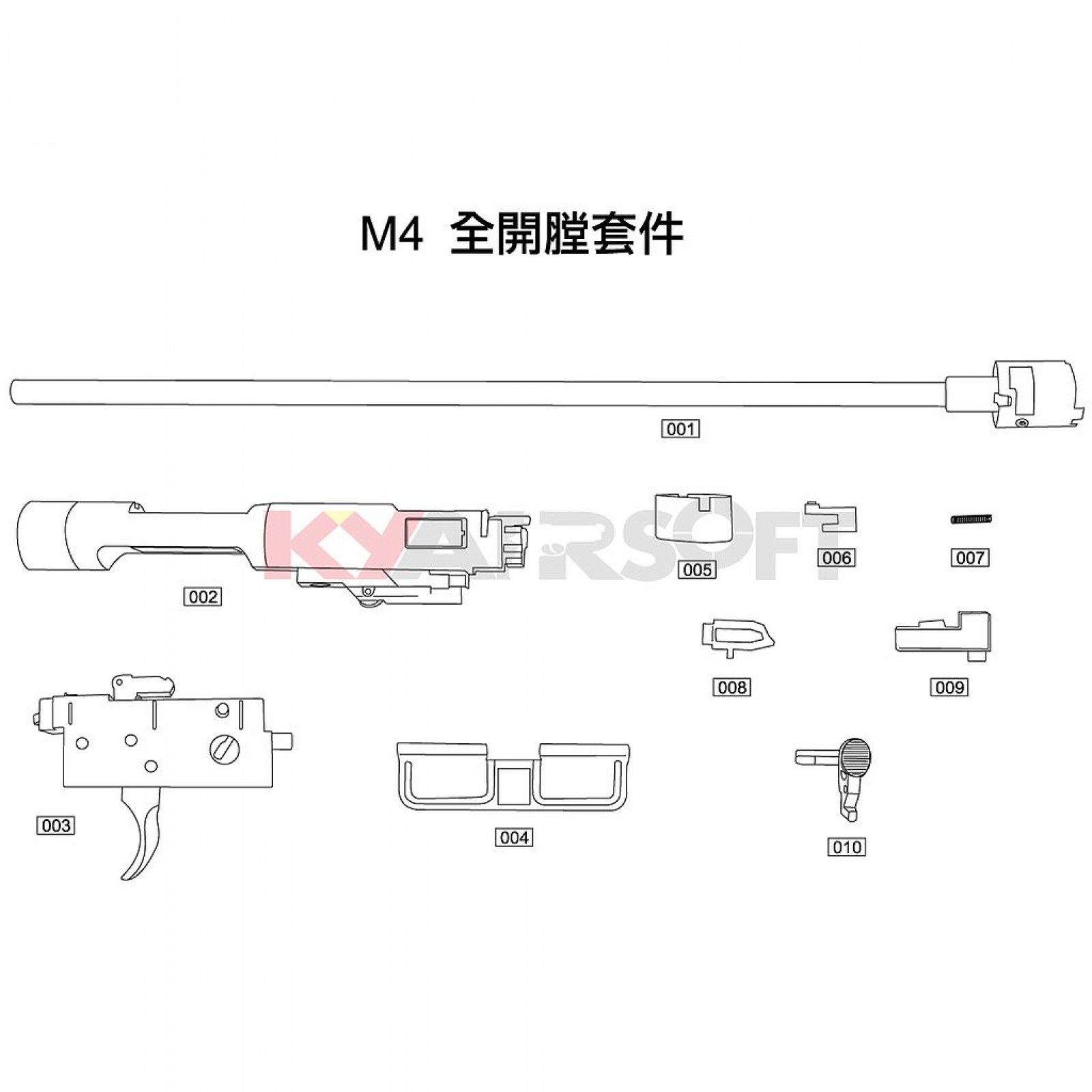 hight resolution of m4 open bolt kit 1 gbbr