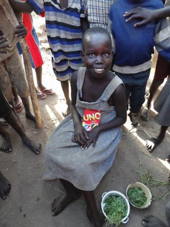Young girl from South Sudan who came to Christ through a disaster relief response, IMB partners, and medical missions.