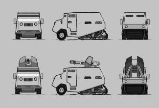 The Siege Portfolio: Enklave Heavy Half-track Truck