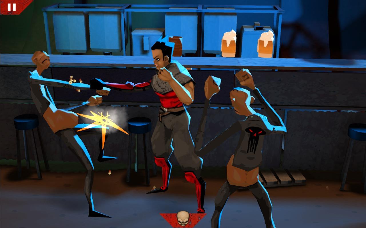 Wasteland Bar Fight: Gal Fighting Creeps
