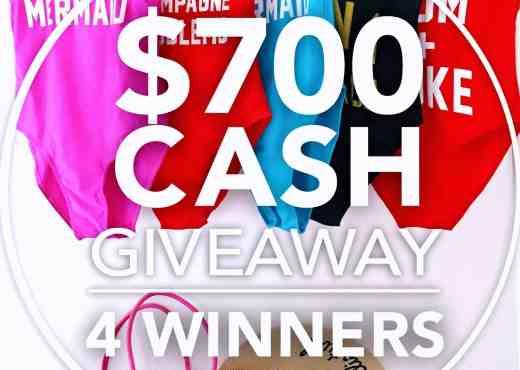 $700 cash giveaway